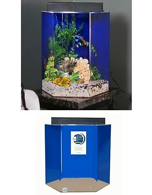 28-Gallon Fish Hexagon Aquarium Pack Acrylic Fish Tank Kit Aqua Fresh Salt Water