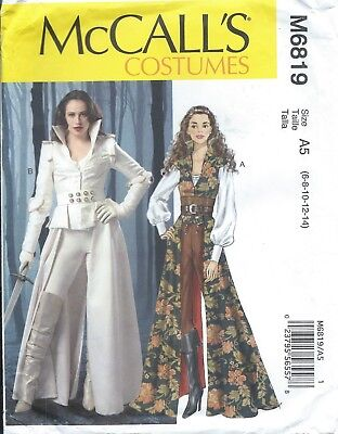 McCall's 6819 HALLOWEEN Costume Pattern WICKED QUEEN ONCE UPON A TIME Miss - Wicked Queen Costume Plus Size