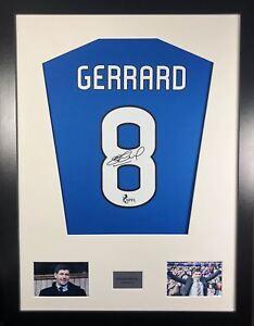 Steven Gerrard Rangers Signed Shirt Display With COA