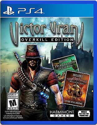 VICTOR VRAN: OVERKILL EDITION (SONY PLAYSTATION 4, 2017) NEW & SEALED