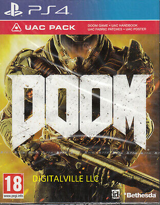 Doom PlayStation 4 PS4 with UAC Pack Brand New Factory Sealed