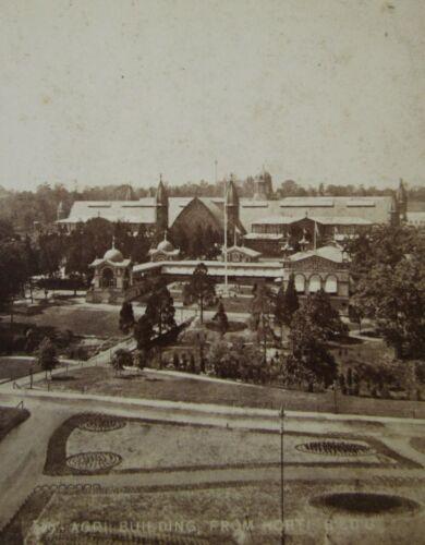 Antique Philadelphia PA Photo Stereoview Centennial Exhibition Worlds Fair 1876
