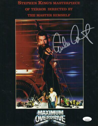 Emilio Estevez Autograph Signed 11x14 Photo - Maximum Overdrive (JSA COA)