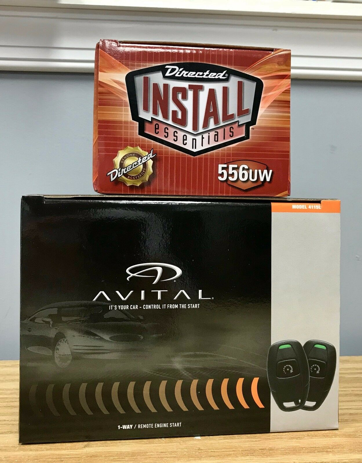 Avital 4115L Remote Start System Keyless Entry & 556UW Bypass Combo 2 items NEW