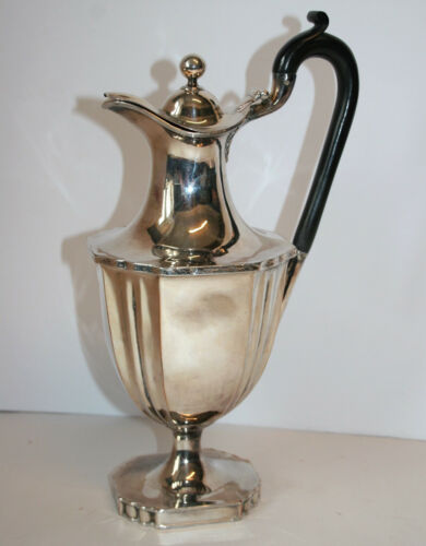 "Antique Edwardian Silver Plated Claret or Water Jug, Carafe, Decanter 12.5"" High"