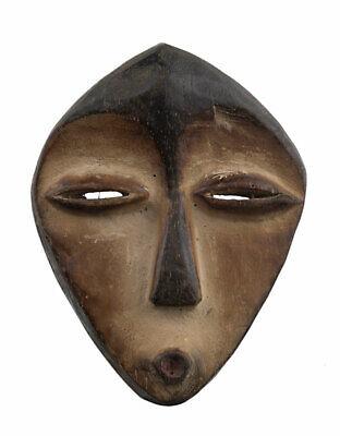 Mask Kwele African Masquette Gabon 12.5cm Miniature Art Primitive 16926
