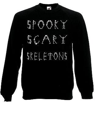 spooky TERROR Esqueletos Halloween Baile Meme Sudadera Suéter Sudadera Top ae84