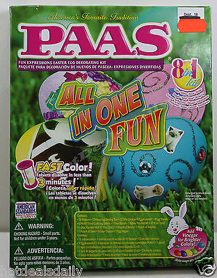 Easy Kids Halloween Decorations (PAAS® ALL IN ONE FUN 8IN1 EGG DECORATING KIT EASY CHILD SAFE COLORING)