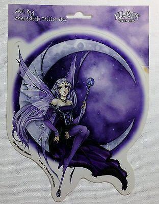 NEW Meredith Dillman Purple Moon Celestial Fairy Vinyl Car Sticker Decal