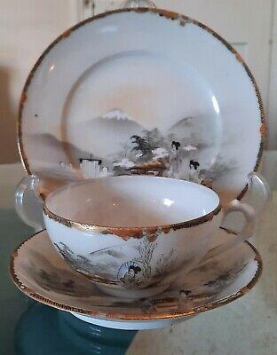 Vintage Japenese Eggshell Porcelain Trio