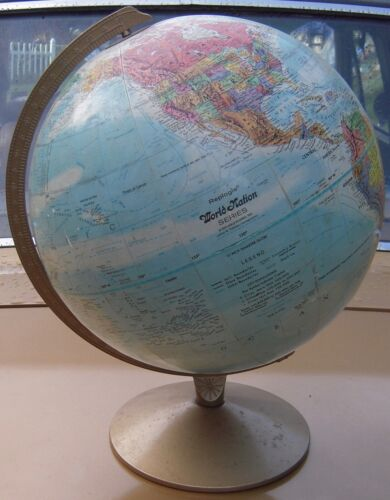 Replogle World Nation Series Globe Leroy Tolman Cartograher
