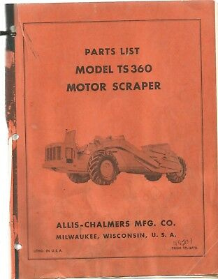 Allis-chalmers Ts360 Tractor Scraper Parts Manual