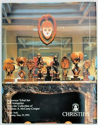 TRIBAL ART & ANTIQUITIES.THE WILLIAM A. McCARTY-COOPER COLLECTION CATALOGUE