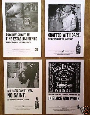Jack Daniel's Picture Postcards 4 Designs  New for sale  Shipping to Ireland