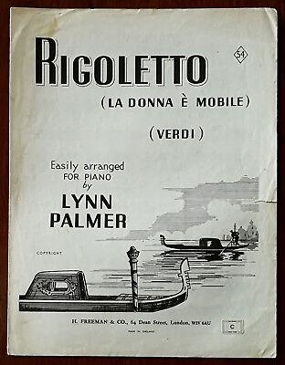 Verdi – Rigoletto arr. By Lynn Palmer – Pub. 1944
