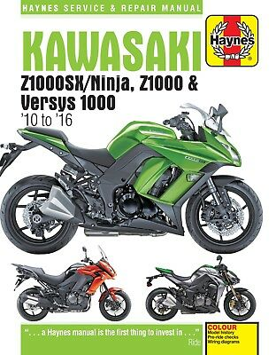H6377 Kawasaki Z1000, Z1000SX & Versys (2010 to 2016) Haynes Repair Manual