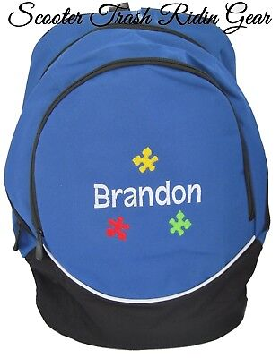 PERSONALIZED Monogram Autism Puzzle Piece Backpack book bag tote - Autism Backpack