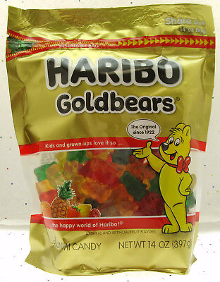 Haribo Gummy Bears Fruit Chewy Candy Gummi ~ Goldbears ~ 14oz Bag](Haribo Gummi Bears)