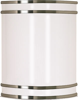 """Nuvo Lighting 62/1045 Glamour LED 9"""" Wall Sconce - Brushed N"""