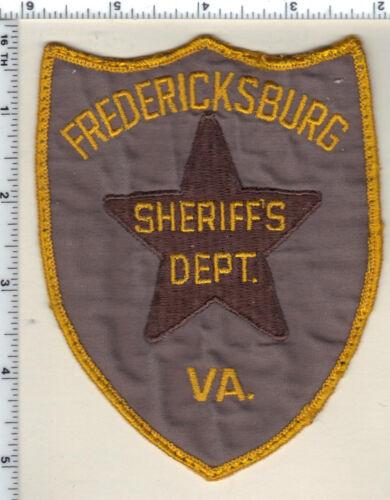 Fredericksburg Sheriffs Dept (Virginia) Uniform Take-Off Shoulder Patch 1987