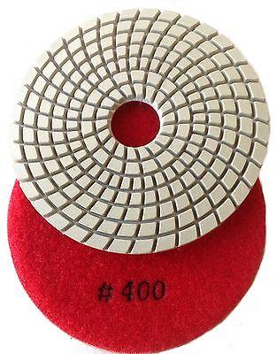 "4"" inch Diamond Polishing Pad WET 400 GRIT GA DPP4"