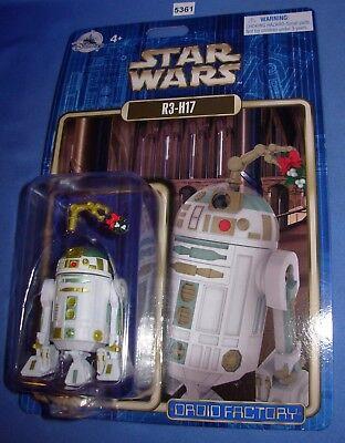 Star Wars 2017 Disney Parks Droid Factory R3-H17 Christmas Droid Mint on - Star Wars Christmas Cards