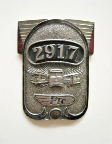 Vintage Philadelphia Transportation Company Badge PTC Operator 2917 Trolley