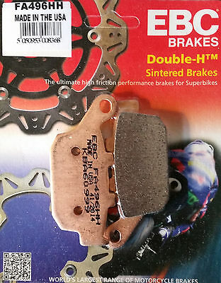 EBC/FA496HH Sintered Brake Pads (Rear) - Suzuki SFV650 Gladius, Honda CBR250