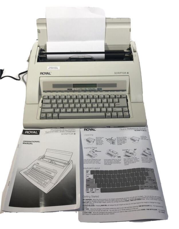 ROYAL SCRIPTOR II 2 TYPEWRITER AX TESTED WORKING