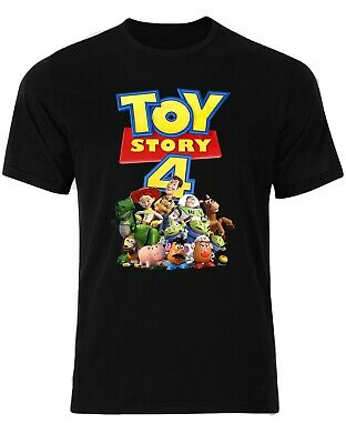 Toy Story 4 Disney Woody Jessie Buzz Lightyear Rex Aliens Men Tshirt AN17
