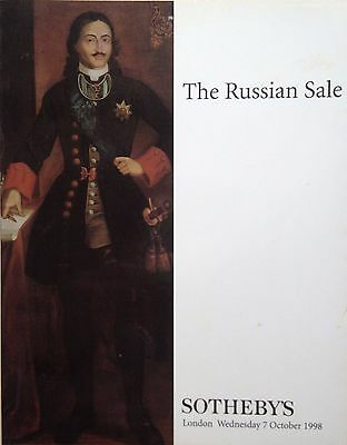 Sotheby's Catalog THE RUSSIAN SALE Paintings, Icons 10 1998 London Sale LN8614
