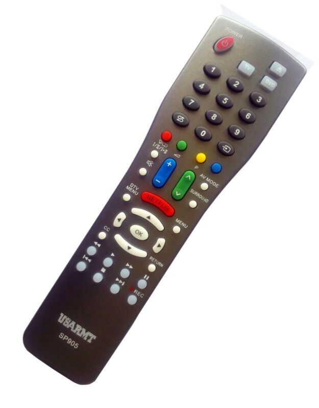 New Sharp Tv Blu-ray Dvd Player Universal Remote By Usarmt-no Programming Needed