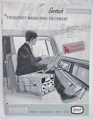 Gertsch Frequency Measuring Test Equipment Catalog Brochure Signal Generator