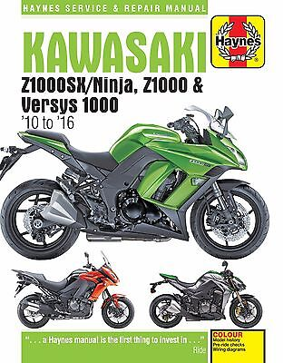 Kawasaki Z1000, Z1000SX & Versys 1000 2010-2016 Haynes Manual 6377 NEW