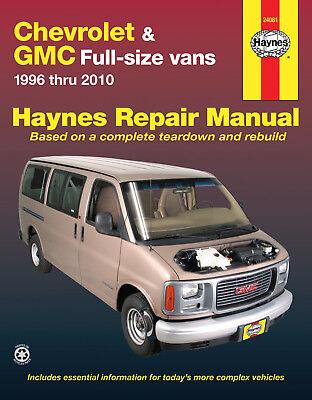 Chevrolet & GMC full-size vans (1996 thru 2010) Haynes Repair Manual 24081
