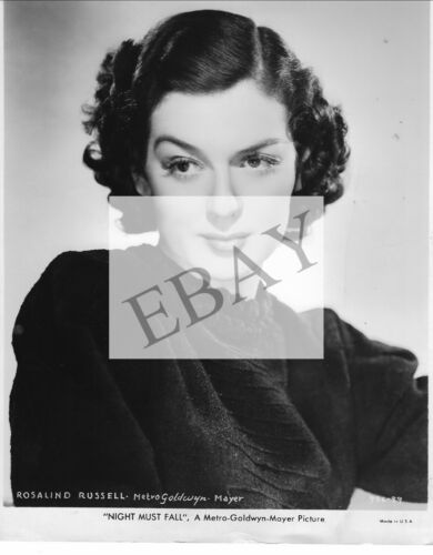 """ORIGINAL PUBLICITY PHOTO FOR ROSALIND RUSSELL IN """"NIGHT MUST FALL"""""""