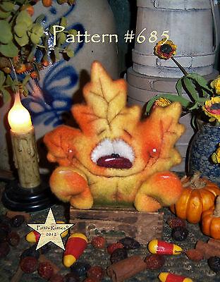 Patti's Ratties Primitive Halloween Fall Maple Leaf 4
