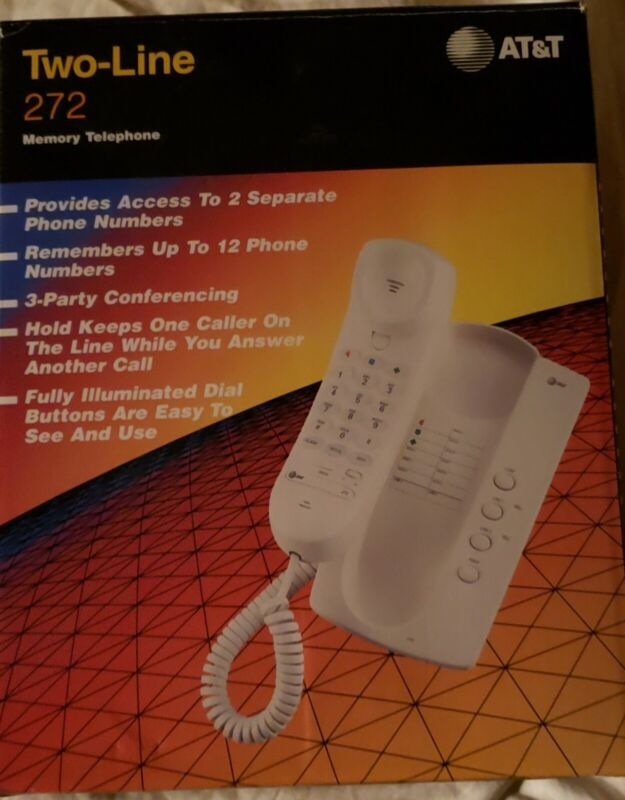 AT&T Two Line Memory Telephone 272