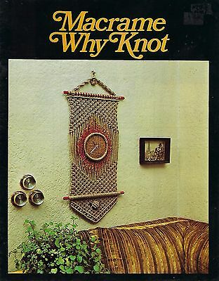 Vintage Macrame Why Knot Craft Book Wall Hanging Art and Plant Hanger Patterns - Macrame Plant Hanger Patterns