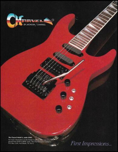 Jackson Charvel Model 6 electric guitar 1986 advertisement 8 x 11 ad print