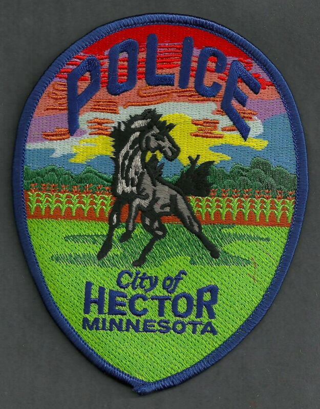 HECTOR MINNESOTA POLICE PATCH STALLION HORSE!