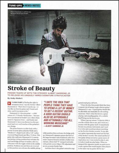 The Strokes Albert Hammond Jr. Signature Fender Stratocaster guitar article