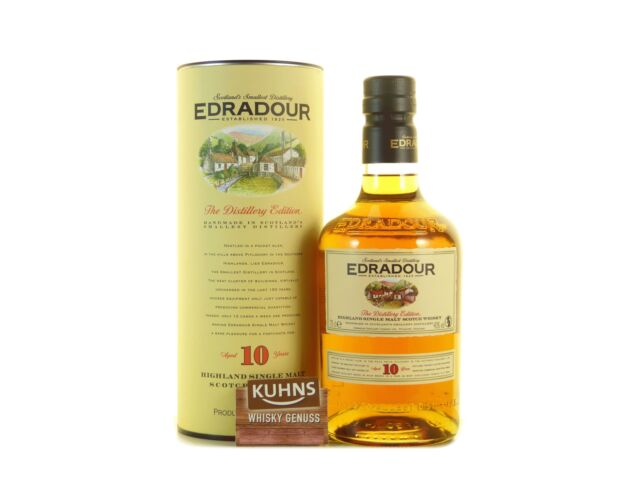 Edradour 10 Jahre Highland Single Malt Scotch Whisky 0, 7l, alc. 40 Vol.-%