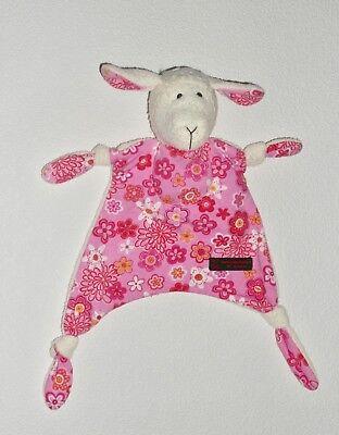 W. Kroke handgearbeitet Schaf Lamm rosa Schmusetuch Schnuffeltuch Kuscheltuch *