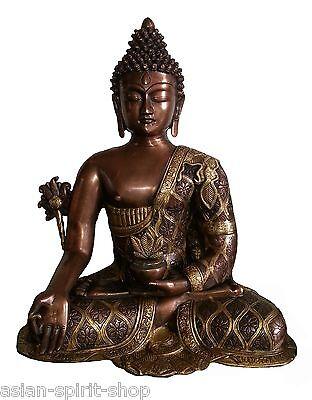 Großer Medizinbuddha 44 cm 9,6 KG Messing Handarbeit Medizin Buddha Heilung