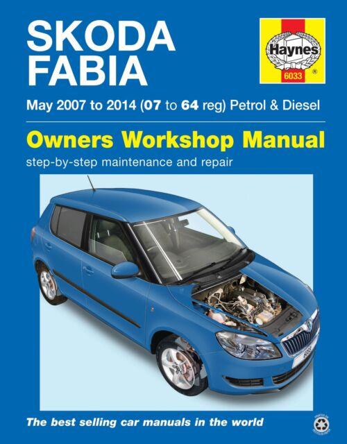 Haynes Manual Skoda Fabia Petrol & Diesel May 2007-2014 NEW 6033