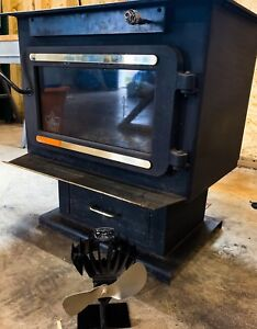 Flame XVR-II wood stove with Eco Fan