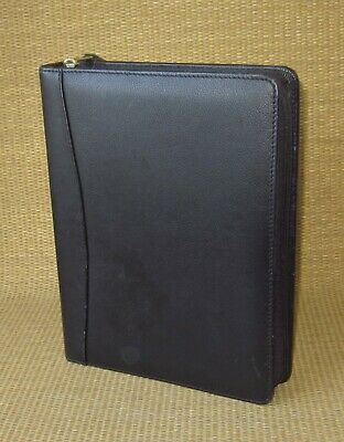 Classic Cambridge Black Leather 1.5 Gold Rings Plannerbinder Fits Franklin