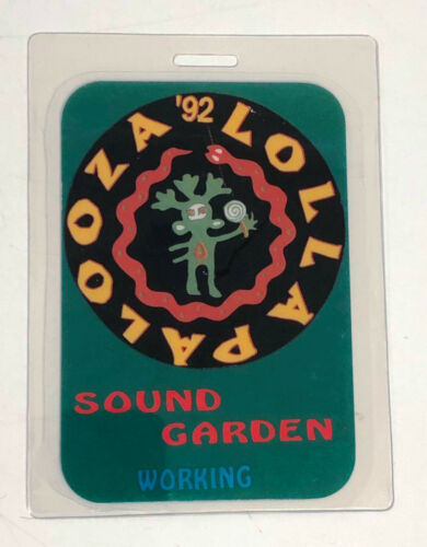 SOUNDGARDEN LOLLAPAOOZA 1992 Laminated Backstage Pass - Chris Cornell