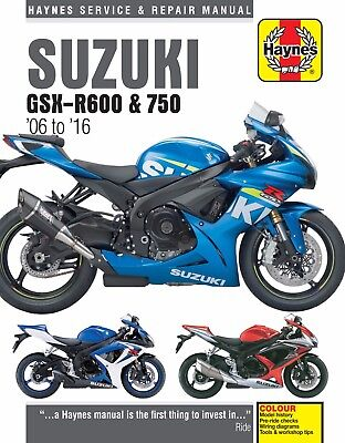 Haynes Manual 4790 Suzuki GSXR600 GSX-R600 & GSXR750 GSX-R750 2006 - 2016
